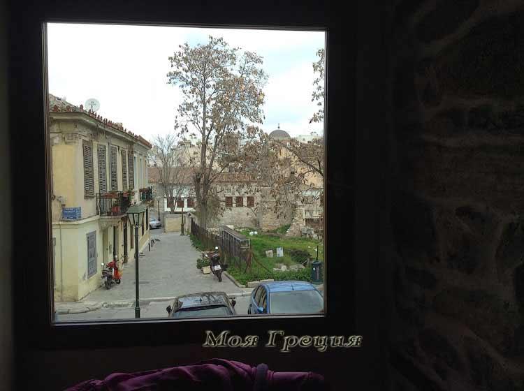 Афинские улочки из окна таверны