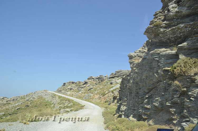 Дорога на вершину Охи, Каристос