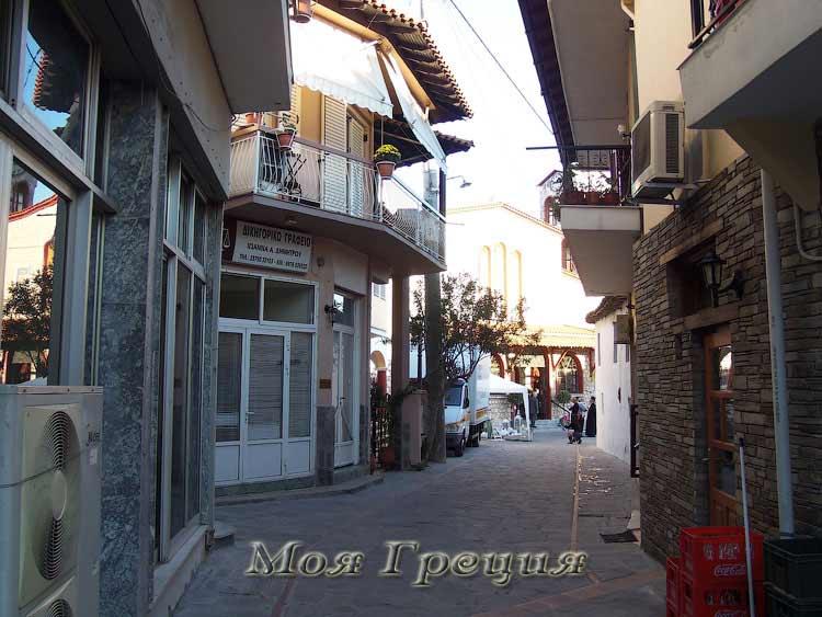 Улочки в Агиос Николаос, Халкидики