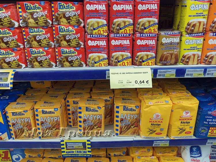 Цены на продукты в Греции 2015