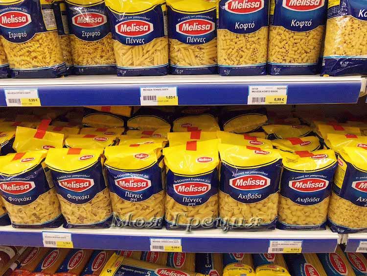 Цены на макароны в Халкидики