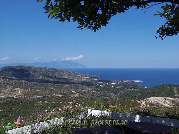 Вид на гору Афон