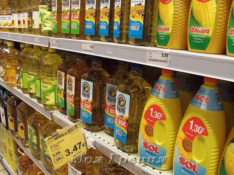 Растительные масла в Греции