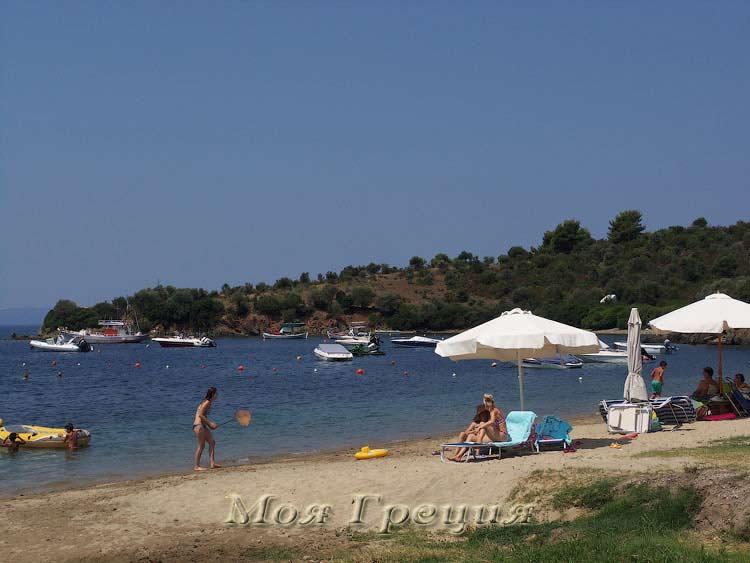 Пляж в Агия Кириаки