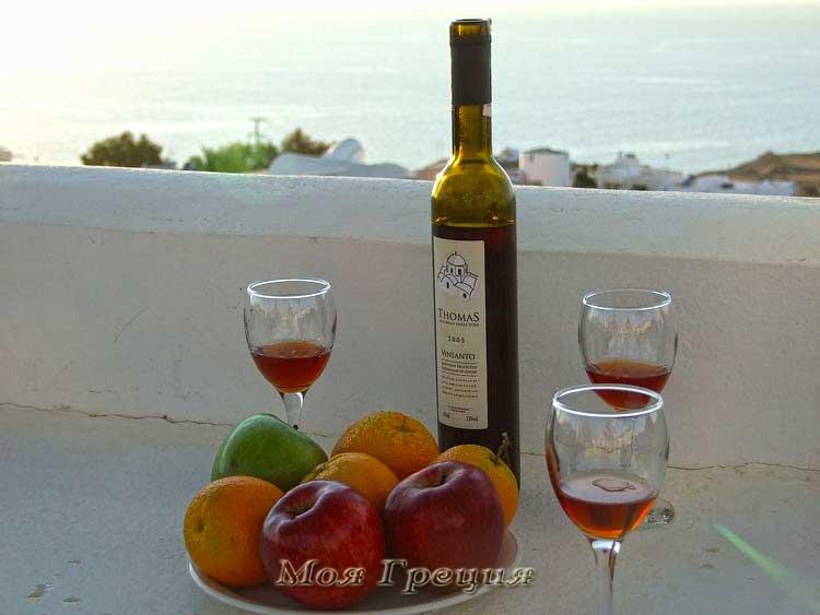 Санторинское вино