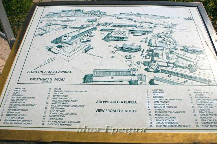 Карта Акрополя, Афины
