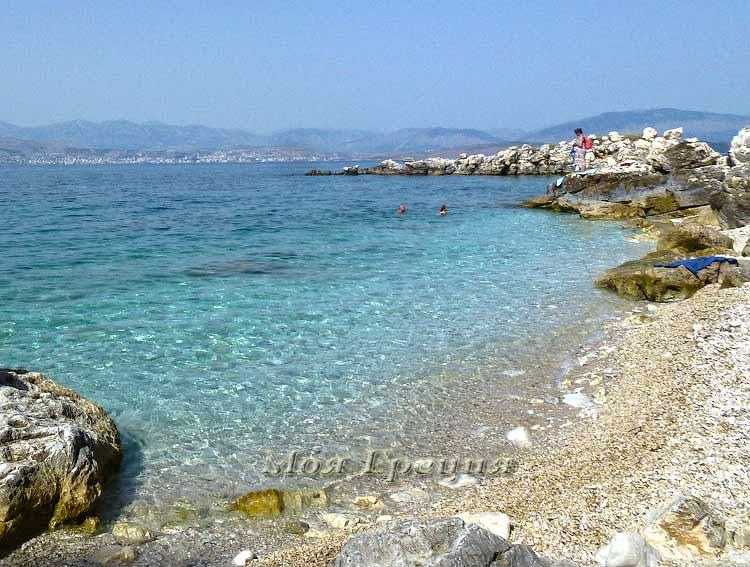 Остров Корфу, Пляж Кассиопи