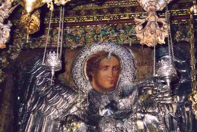 Икона Архангела Михаила в монастыре Рукуниотис, Сими
