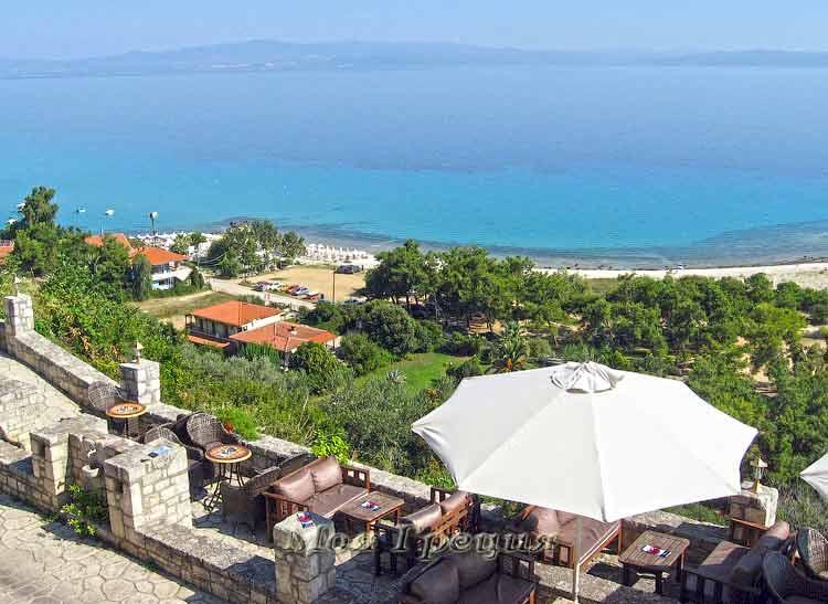 Вид с веранды кафе, Афитос