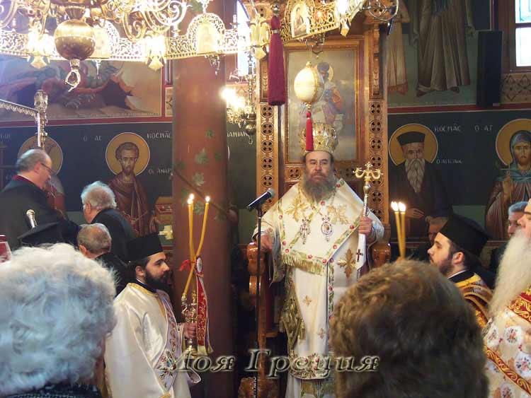 Греческий митрополит Арнеа и Святого Афона Феоклит