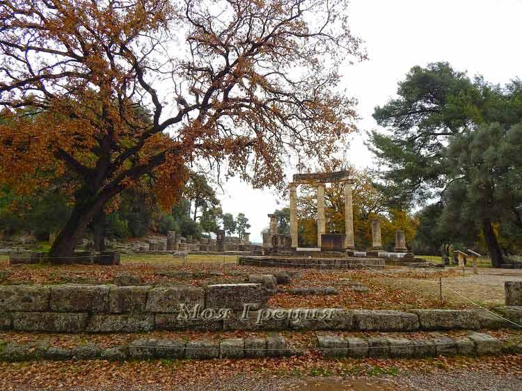 Древняя Олимпия зимой