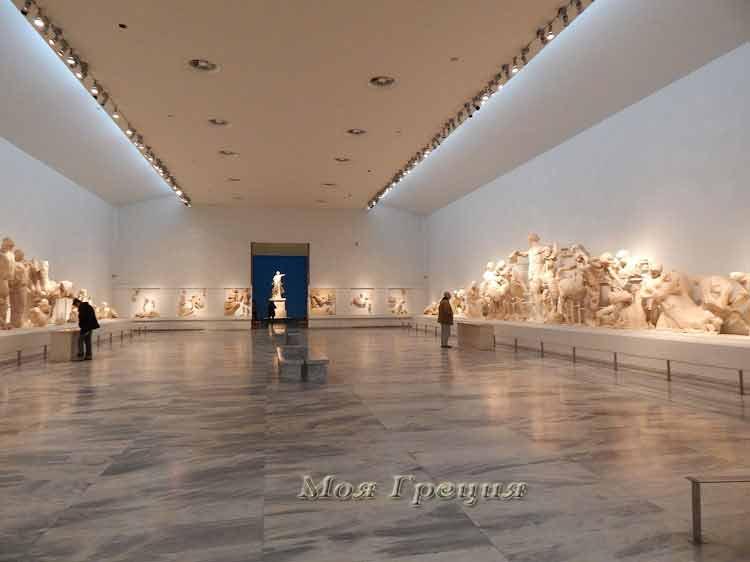 Главный зал Археологического музея, Олимпия Греция
