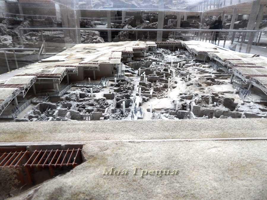 Макет древнего города