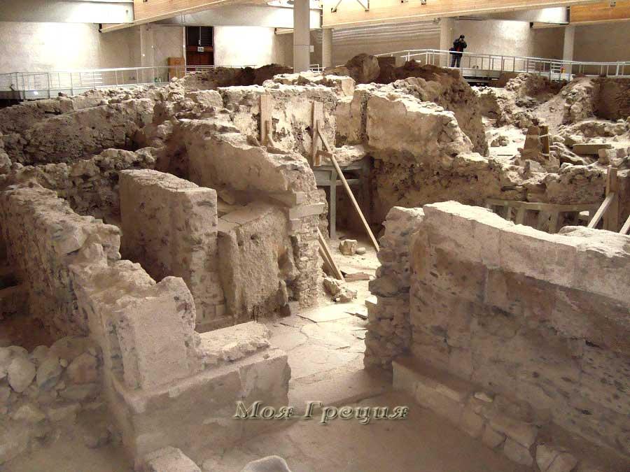 Развалины одного из ритуальных зданий