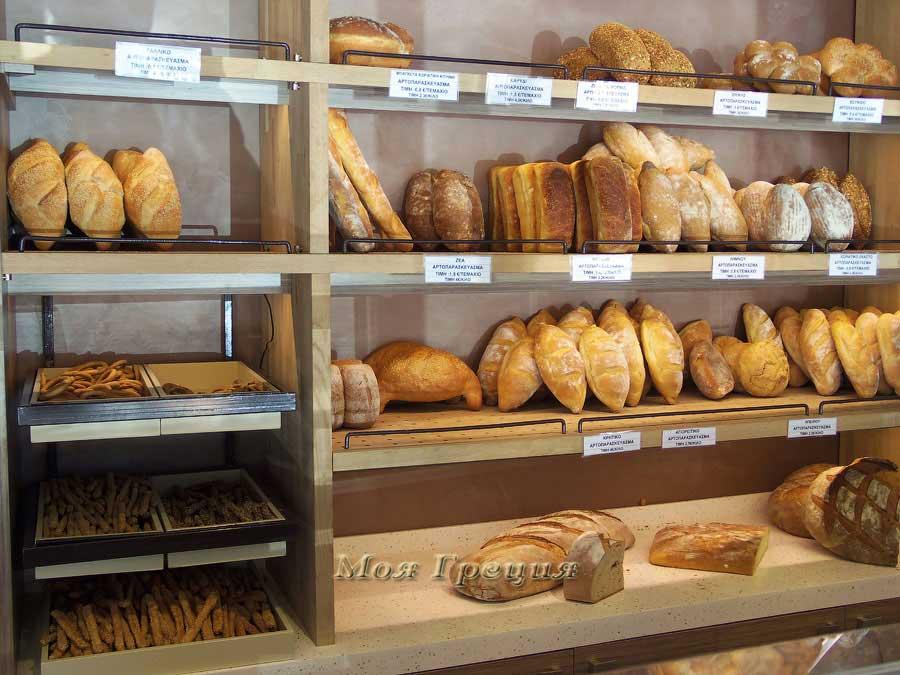Разные виды хлеба в Греции