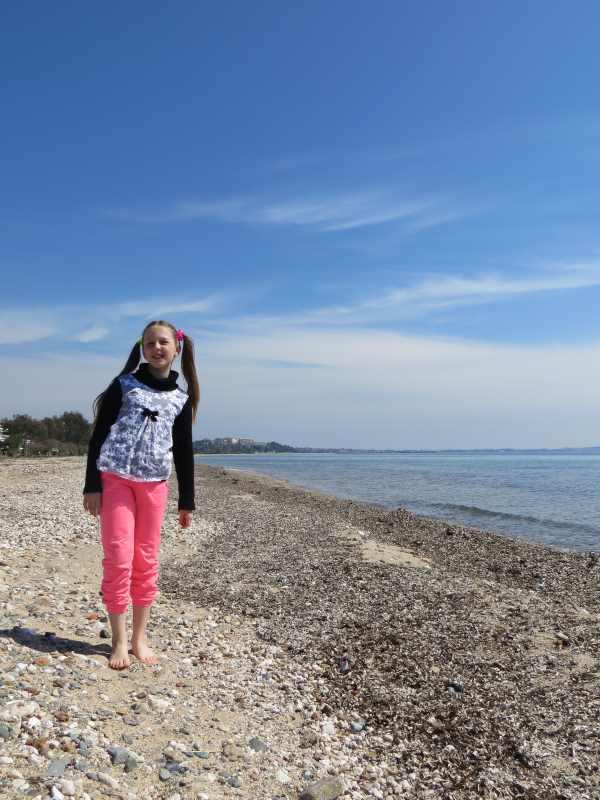 На пляже Мурьес в марте