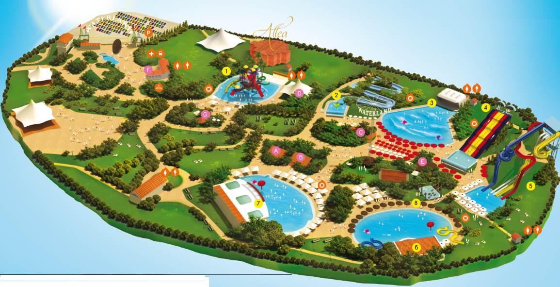 Карта аквапарка Салоник