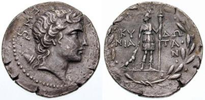 Серебряный тетрадрахм с головой Артемиды, Крит