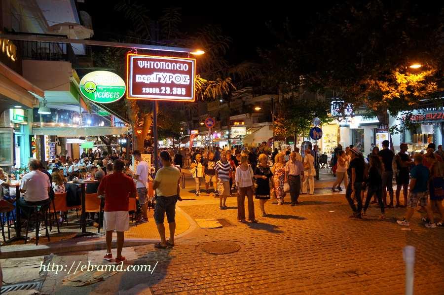 Улицы вечернего города