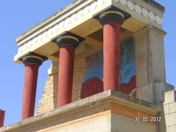 Кносский дворец - восстановленная часть