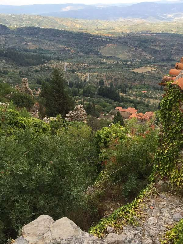 Вид из кельи монастыря