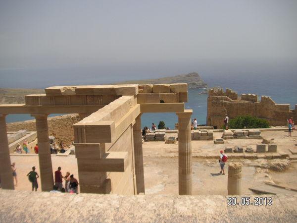 Руины Акрополя в Линдосе
