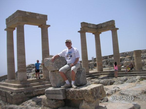 Мое место в Акрополе Линдоса