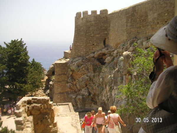 Стена рыцарской крепости Линдоса