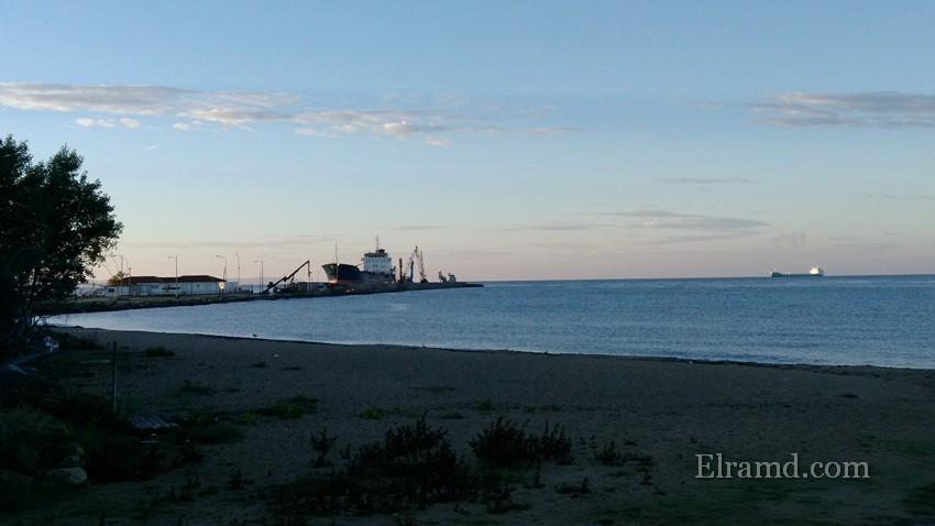Порт в Неа Муданья утром
