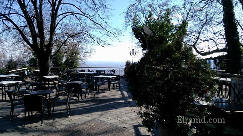 Вид из кафе на парк