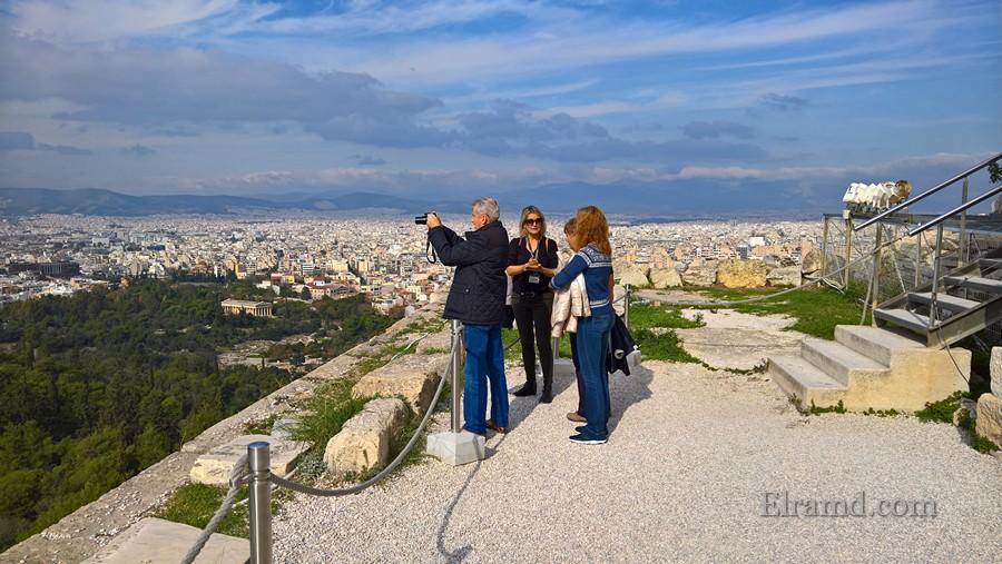 Вид на Афины из Акрополя