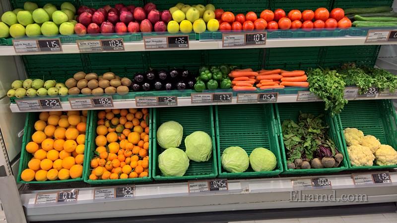 Цены на фрукты в Нафплио