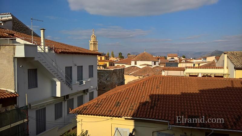 Вид с балкона нашего Пансиона Дафни