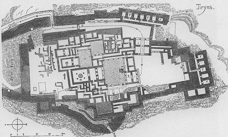 План крепости Тиринфа