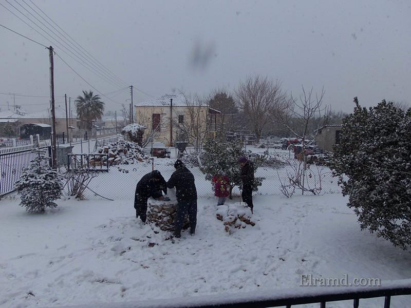 Народ активно лепил снеговиков
