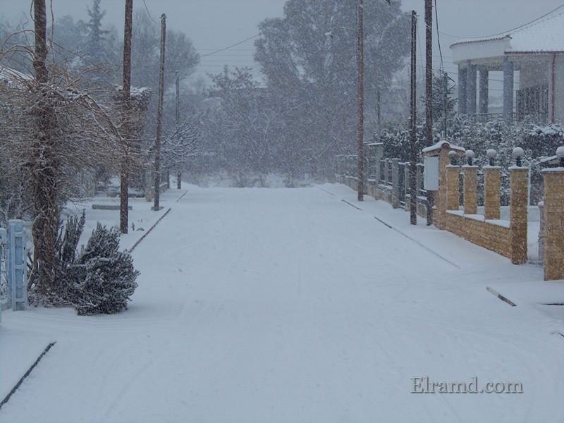 Снегопад в Греции январь 2017