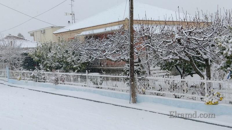 Соседский дом в снегу