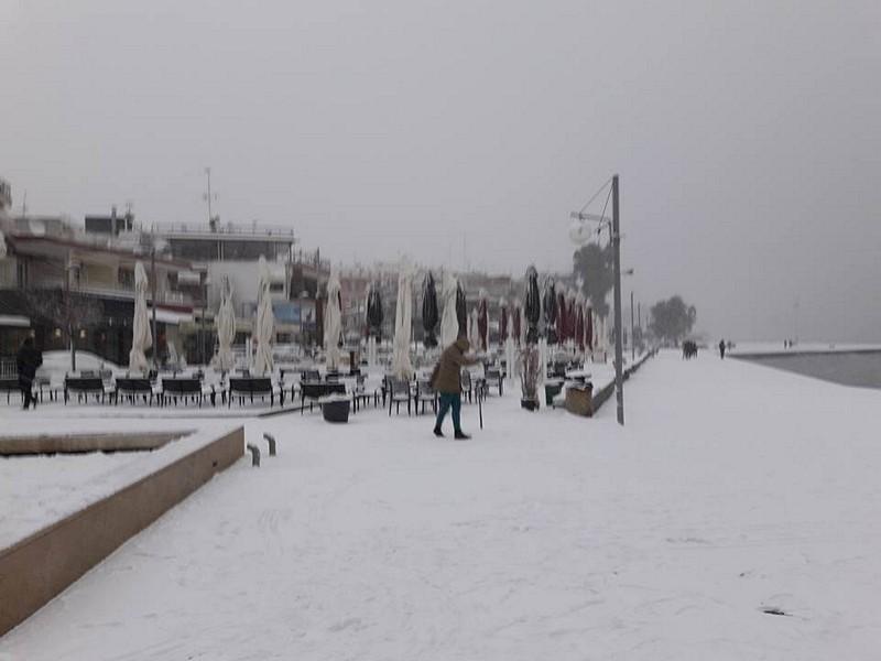 Набережная Муданьи под снегом