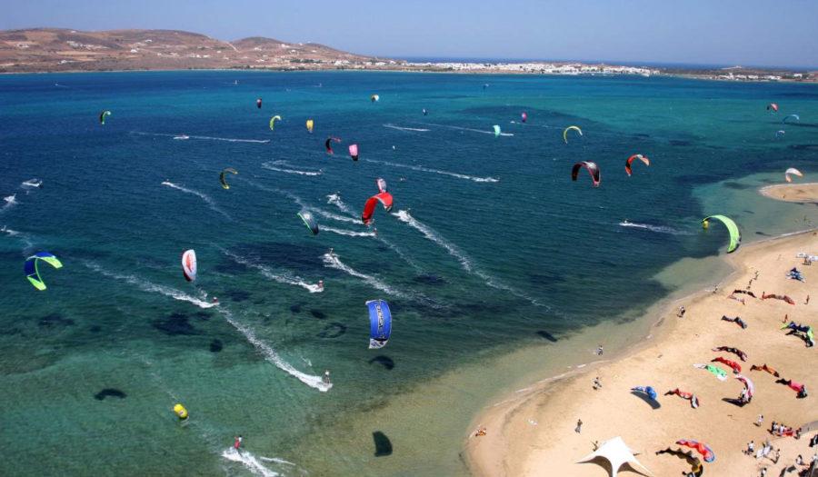 Кайт-серфинг на Паросе