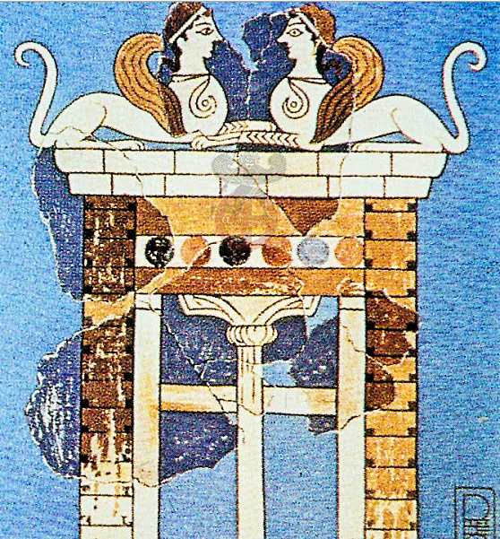 Ворота Сфинксов, дворец Нестора