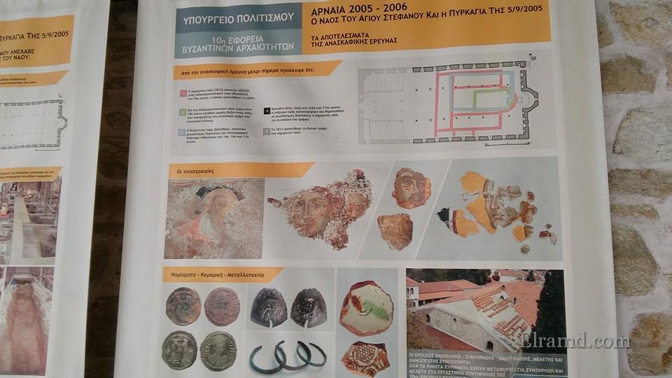 Старые храмы, фрагменты фресок, монеты