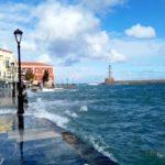 Крит зимой: Ханья в бурную непогоду