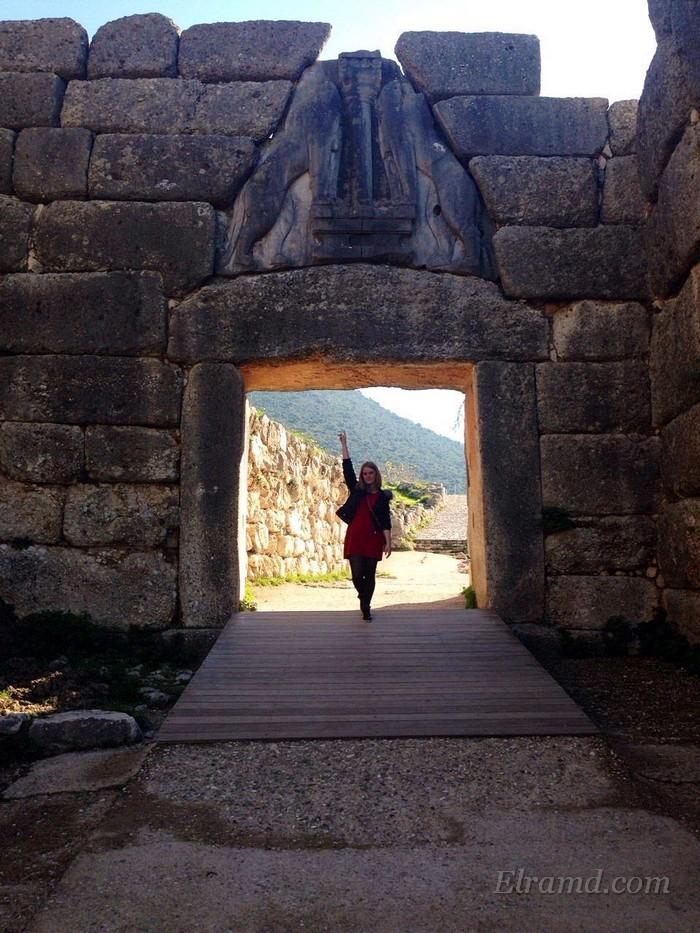 Львиные вороты в Микенах