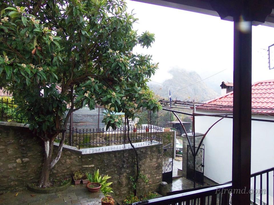 Вид с балкона домика Паисия