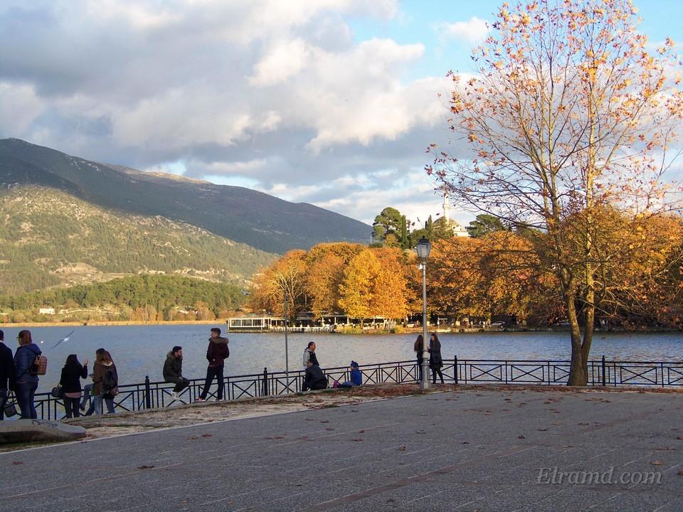 Озеро Янины осенью