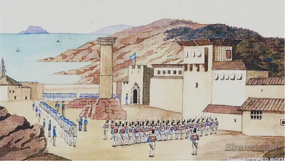 Старая литография крепости