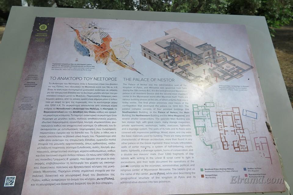 Информационный стенд дворца Нестора