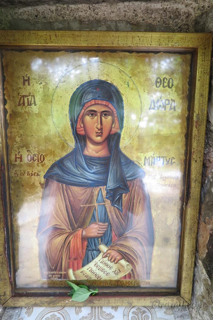 Икона с ликом Св. Феодоры