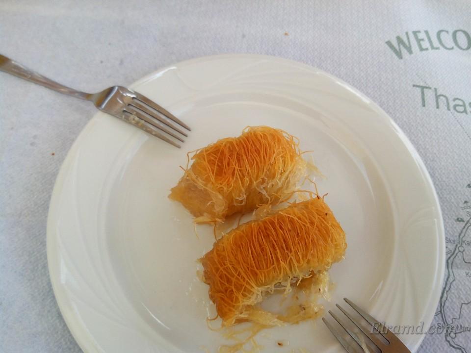 Кадаифи - бесплатный десерт в конце обеда