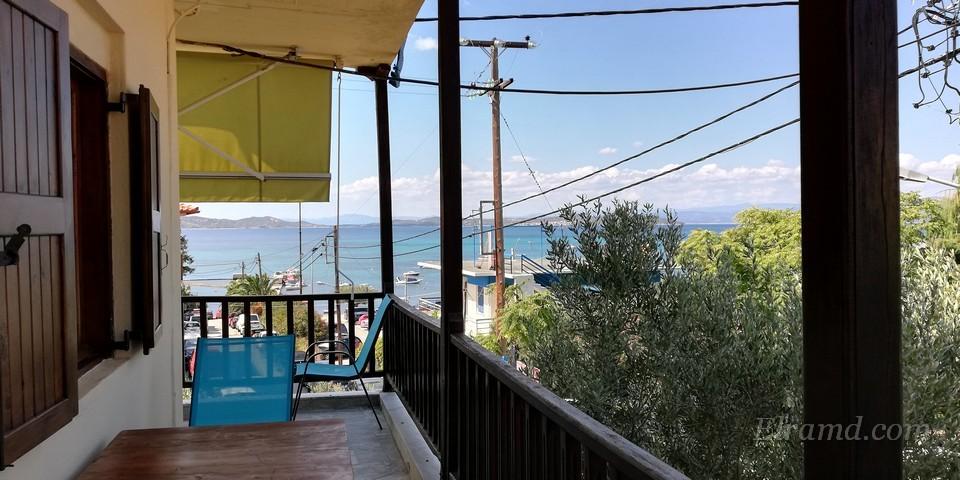Вид на залив с нашего балкона